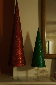 Quick and easy addition to a Christmas mantel or decor! Less than $5/each.