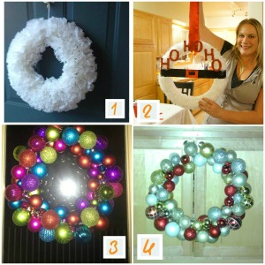 Craft Night: Winter wreaths.  6 DIY wreaths.
