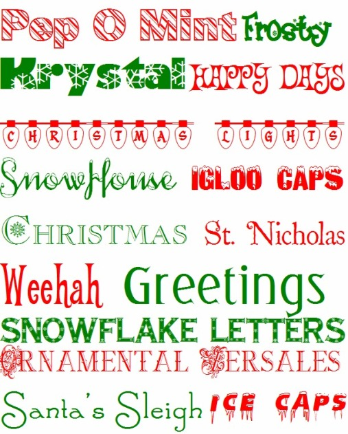 Free Christmas Fonts.Free Christmas Fonts So Pretty In Paint