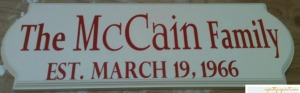 So Pretty in Paint - McCain Established Sign