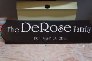 So Pretty in Paint: DeRose Family Established Sign